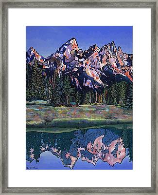 Framed Print featuring the painting Teton Summer by Bob Coonts