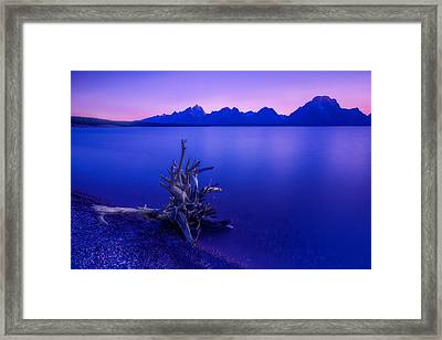 Teton Summer Sunset Framed Print by Jerry Patterson