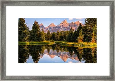 Teton Sunrise Framed Print by Chris Austin