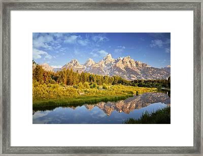 Teton Sunrise Framed Print