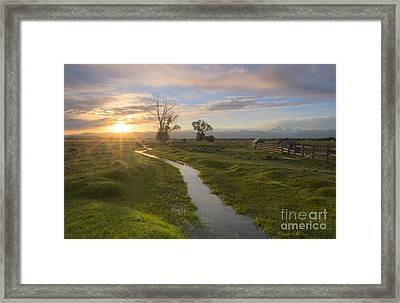 Teton Valley Morning Framed Print