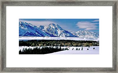 Teton Valley Winter Grand Teton National Park Framed Print