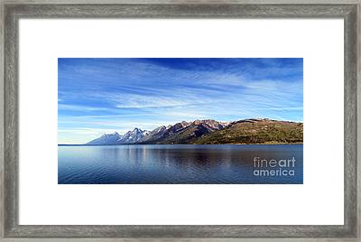 Tetons By The Lake Framed Print