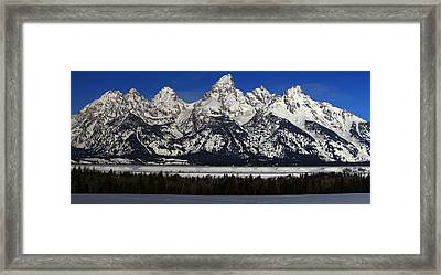 Tetons From Glacier View Overlook Framed Print