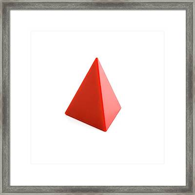 Tetrahedron Framed Print by Science Photo Library