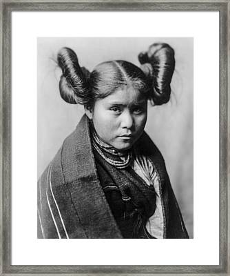 Tewa Girl Framed Print by Aged Pixel