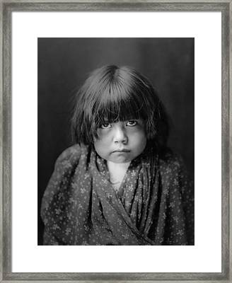 Tewa Indian Child Circa 1905 Framed Print
