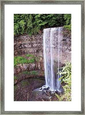Framed Print featuring the photograph Tews Falls In Dundas Ontario by Marek Poplawski