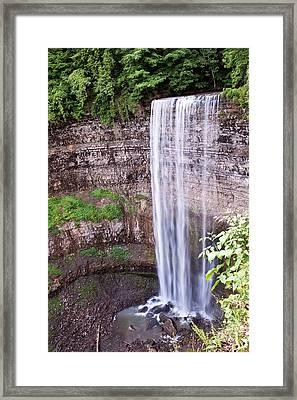 Tews Falls In Dundas Ontario Framed Print by Marek Poplawski
