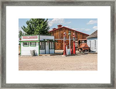 Texaco And Mack Framed Print