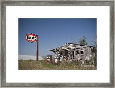 Texaco Country Store Framed Print by T Lowry Wilson