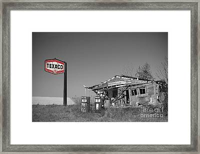 Texaco Country Store With Sign Framed Print by T Lowry Wilson