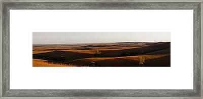Texaco Hill Sunset Framed Print