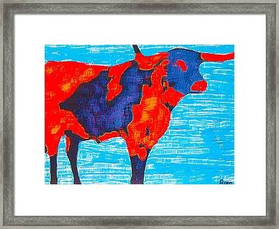 Texan Longhorn Framed Print by Robert Margetts