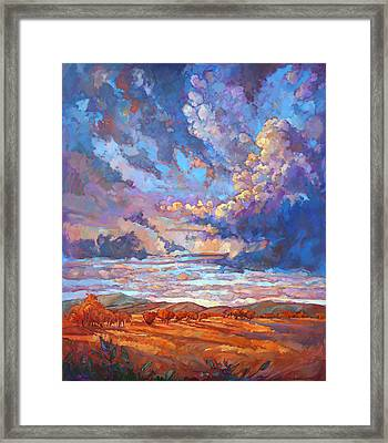 Texan Sky Framed Print by Erin Hanson