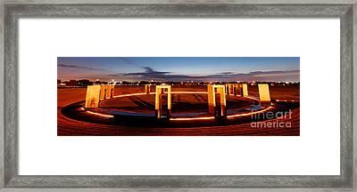 Texas A And M Bonfire Memorial At Dawn - College Station Texa Framed Print