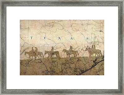 Texas And The Army Framed Print by Suzanne Powers