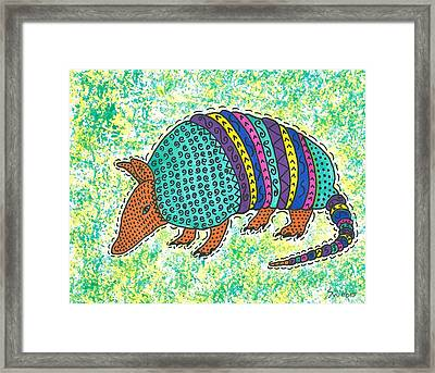 Texas Armadillo Framed Print by Susie Weber