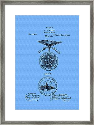 Texas Badge Or Medal Patent Framed Print by Mountain Dreams