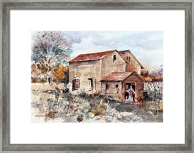 Texas Barn Framed Print
