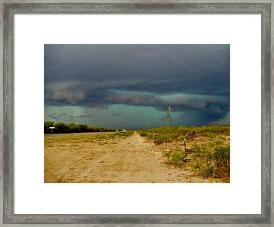 Texas Blue Thunder Framed Print
