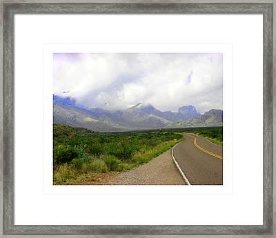 Texas Border Highway  Framed Print