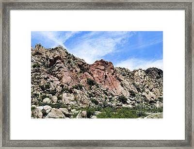 Framed Print featuring the photograph Texas Canyon by Gina Savage