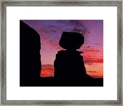 Texas Canyon Sunset Framed Print