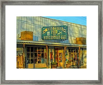 Texas Commerce Framed Print by Mountain Dreams