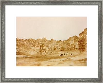 Texas Country Framed Print