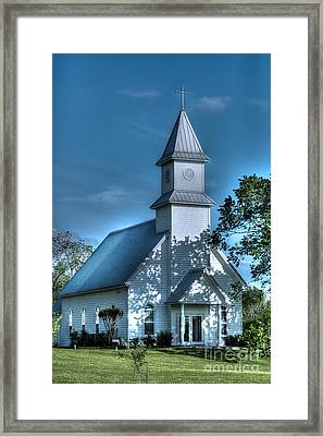 Texas Country Church Framed Print