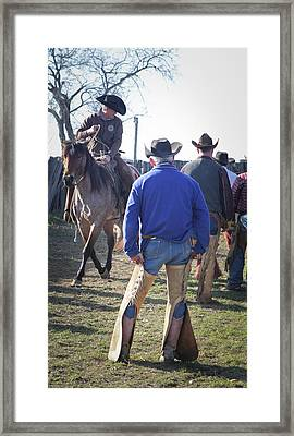 Texas Cowboy Framed Print