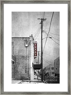 Texas Framed Print