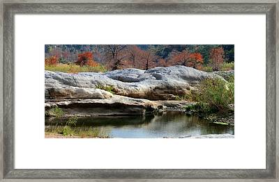 Framed Print featuring the photograph Texas Fall Colors by David  Norman
