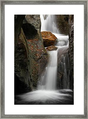 Texas Falls Of Vermont Framed Print by Juergen Roth