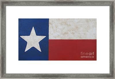 Texas Flag Framed Print