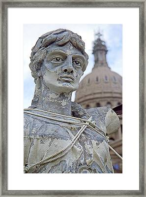 Texas Goddess Of Liberty I I Framed Print