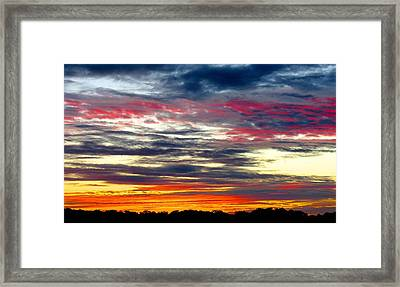 Texas Good Morning Framed Print by David  Norman