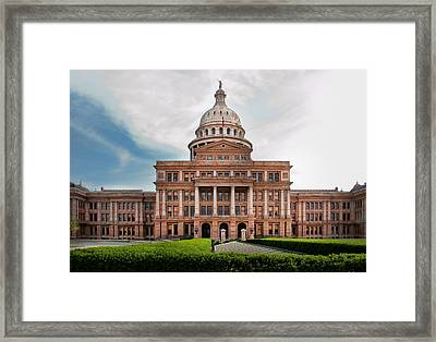 Texas Government Framed Print by David and Carol Kelly