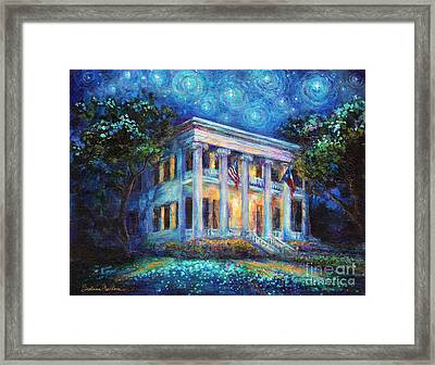 Texas Governor Mansion Painting Framed Print
