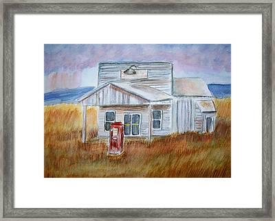 Texas Grassland Framed Print by Belinda Lawson