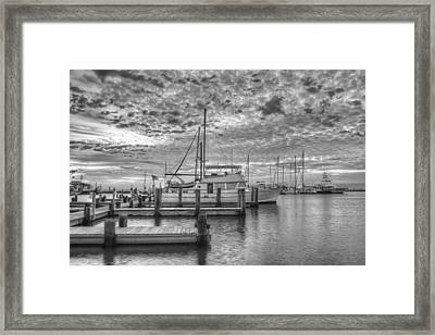 Texas Gulf Coast Images  Boats Of Rockport Texas 11 In Black A Framed Print by Rob Greebon
