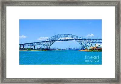 Texas Harbor Bridge Framed Print by Tina M Wenger