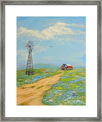 Framed Print featuring the painting Texas High Sky by Jimmie Bartlett