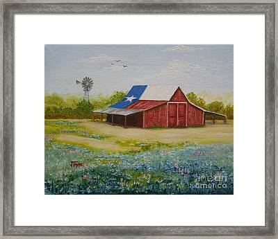Framed Print featuring the painting Texas Hill Country Barn by Jimmie Bartlett