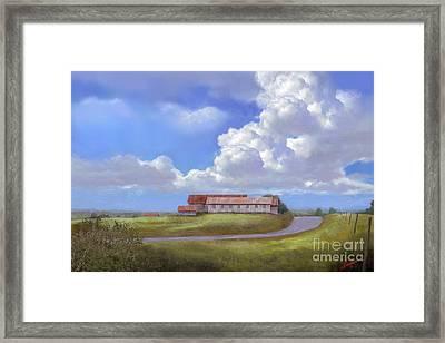 Texas Hill Country Barns Framed Print