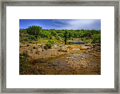 Texas Hill Country Stream Framed Print by David and Carol Kelly