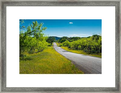 Texas Hill Country Road Framed Print