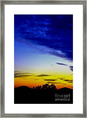 Texas Hill Country Sunset Framed Print