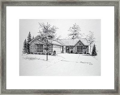Texas Home 1 Framed Print by Hanne Lore Koehler
